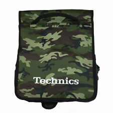 Technics Dj Record Bag Ruck Sack 50 vinyl LP Camouflage Green  SL 1200 SL 1210