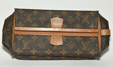 LOUIS VUITTON Brown Monogram Toiletry Bag Vintage