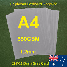 70 X A4 Chipboard Boxboard Cardboard Recycled Gray Card 650gsm 1.2mm