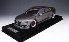 1/18 AB Models Audi A7 Liberty walk LB Performance Metallic Grey Alcantara Base