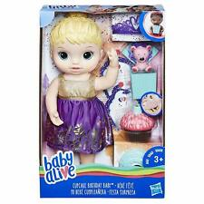 Baby Alive Blonde Cupcake Birthday Baby, Choose Cake Topping & Candle goes out!