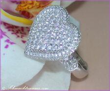 Vom Allerfeinsten: Grandioser Brillanten Herz Ring, 2.36 cts. w-si WG-750 12000€
