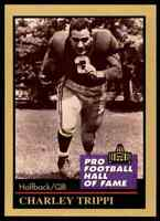 1991 Hall of Fame GOLD #140 Charley Trippi HOF RARE Chicago Cardinals / Georgia