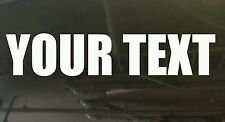 Custom text words anything you want vinyl cut car boat sticker at 200 x 50 mm