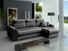 - MARCO - Universal SIDE Corner Sofa bed 4 seater Fabric Comfy Couch L243x137CM