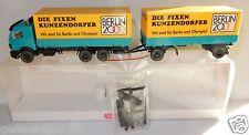 WIKING HO 1/87 TRUCK CAMION MERCEDES REMORQUE KUNZENDORFER BERLIN 2000 OLYMPIA
