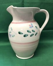 """Vintage Caleca Pink Garland 9"""" Serving Pitcher Made In Italy EUC!"""