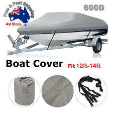 Premium Heavy Duty 600D 12-14ft 3.6-4.2m Marine Grade Trailerable Boat Cover A