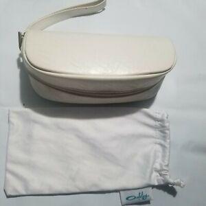Oakley Sunglasses Case Soft Shell Zip Closure White Protective Case W/ Pouch