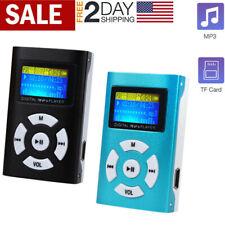 Usb Mini Mp3 Player Lcd Screen Support 32Gb Micro Sd Tf Card Blue & Black