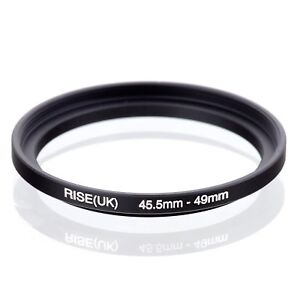 RISE(UK) 45.5mm-49mm 45.5-49 mm 45.5 to 49 Step Up Ring Filter Adapter black