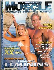 Le Monde Du MUSCLE #223 bodybuilding magazine AARON MADDON/ poster  8-02 (Fr)
