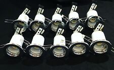 10 CHROME 240v RECESSED DOWNLIGHT GU10 Spotlight down light Fitting Halogen LED