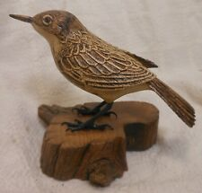 Fine Carved Life Size Song Bird Signed Neil Ricketts
