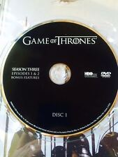 Game of Thrones Season 3 THREE disc 1 Replacement Disc DVD ONLY