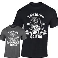 T-Shirt Dragon Ball Z Gym workout Bodybuilding Goku Training To Go Super Saiyan