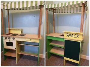 Toy Shop Market Stall Kitchen Wooden Toy 2in1
