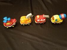 VTech Go! Go! Smart Wheels Talking Vehicle Lot Helicopter Tow Cement Fire Trucks