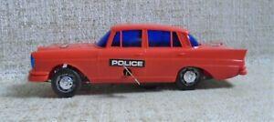 MERCEDES POLICE CAR NO BOX Friction Clockwork Made in Greece Greek VINTAGE