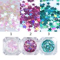 BORN PRETTY Star Glitter Sequins Nail Flakies Multi-Color Nail Art Paillette DIY