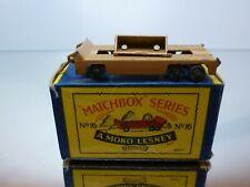 MATCHBOX LESNEY 16 TRANSPORTER TRAILER - TAN - FAIR CONDITION IN BOX