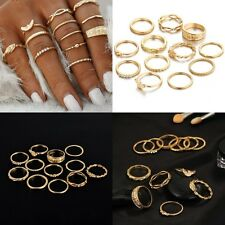 Boho Women 12pc/Lot Gold Color Vintage Punk Knuckle Midi Finger Ring Jewelry New