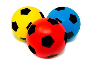 Pack of 3 17.5cm E-Deals Foam Sponge Football  Indoor Outdoor Soccer Toy