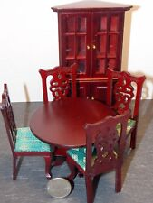 Dollhouse Miniature Dining Room Table Hutch Set  1:12 scale F1 Dollys Gallery