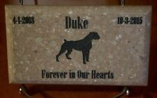 "Custom Pet Memorial Grave Marker 5""x3 Headstone Stone Plaque Dog Cat Bunny Bird"