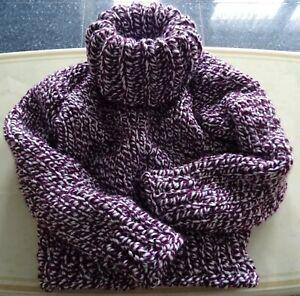 2 kg Pullover Wolle no Mohair Gr. L / XL  50cm Rollkragen  Handstrick Neu