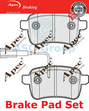 Apec Rear Brake Pads Set OE Quality Replacement with Wear Indicator PAD1798