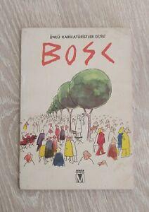 JEAN MAURICE BOSC 1978 COMIC CARTOON TURKISH RARE TURKEY