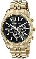 Michael Kors MK8286 Men's Gold Tone Black Stainless Steel Chronograph Date Watch