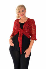 Plus Size Polyester Floral 3/4 Sleeve Tops & Blouses for Women