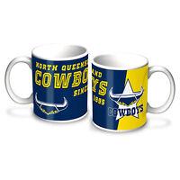 North QLD Queensland Cowboys NRL LOGO Coffee Mug EST DATE Man Cave Ba Gift