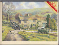 Woodhead Farm Greetings Card birthday Rothbury nostalgia Landrover tractor sheep