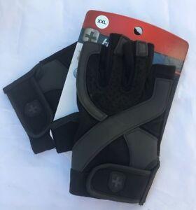 Harbinger Men's Training Grip Weightlifting Gloves Black/Grey XXL Free P&P UK