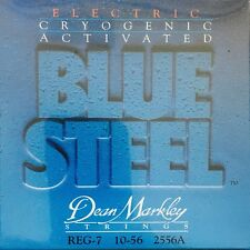 Dean Markley 2556A Blue Steel Electric Guitar Strings 7-String set gauges 10-56