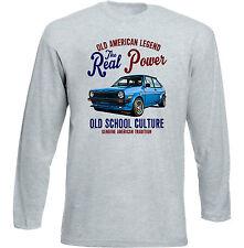 Vintage American Car Ford Fiesta Mark 1-Nuevo Algodón Camiseta