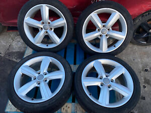 2010 AUDI A3 8P 17 INCH SET OF ALLOY WHEELS WITH TYRES 225/45ZR17 5 STUD