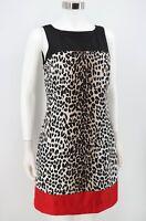 White House Black Market Dress Womens Size 4 Animal Print Sleeveless Sheath