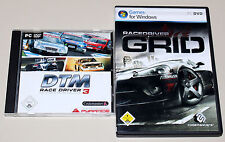 2 PC SPIELE BUNDLE - DTM RACE DRIVER 3 & RACEDRIVER GRID - RACING SIMULATOR