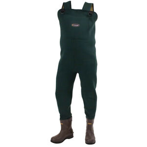 Frogg Toggs Amphib 2713343 Neoprene Felt Forest Green Bootfoot Chest Wader Sz 14