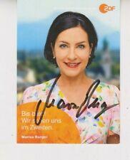 ZDF Autogrammkarte Marisa Burger Rosenheim-Cops SOKO ARD Hubert ohne Staller RTL