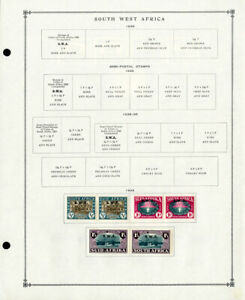 South West Africa Clean 1930s to 1970s Mint & Used Stamp Collection