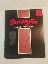 BURLINGTON PANTYHOSE SWISS DOT SIZE SMALL COLOR WINE SANDLEFOOT VINTAGE   #12