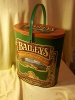Large Baileys Irish Cream Tin With Plastic Handle Made in England Holds Bottles