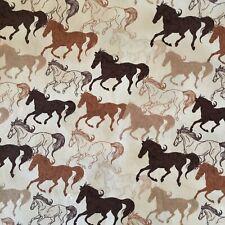 39c74fffa87 Horses Running Free Sewing Quilting Fabric Patchwork Cotton 50cm x 50cm