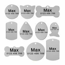 Stainless Steel Tag Personalized Dog Tags Custom Engravd Cat Pet Puppy Dog Name