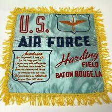 VTG WW2 Satin Pillow case sham Harding Field Baton Rouge US Army Air Force  - P7
